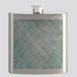 Pastel Lattice Basket Art Flask