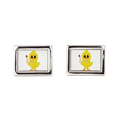 Easter Chick in Pearls with Lipstick Rectangular C