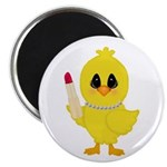 Easter Chick in Pearls with Lipstick Magnets