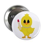 Easter Chick in Pearls with Lipstick 2.25