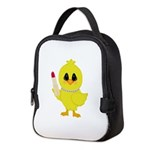 Easter Chick in Pearls with Lipstick Neoprene Lunc