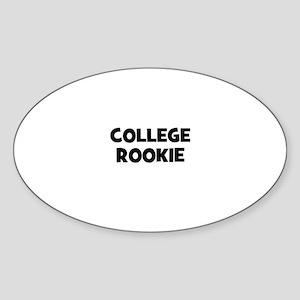 College Rookie Oval Sticker