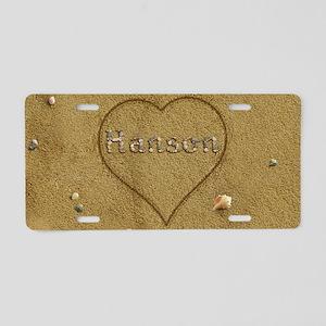 Hanson Beach Love Aluminum License Plate