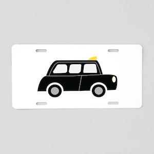 Black Taxi Aluminum License Plate