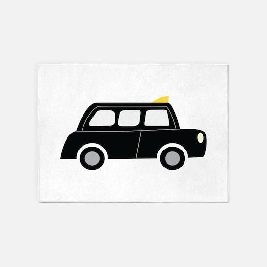 Black Taxi 5'x7'Area Rug