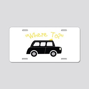 Where To? Aluminum License Plate