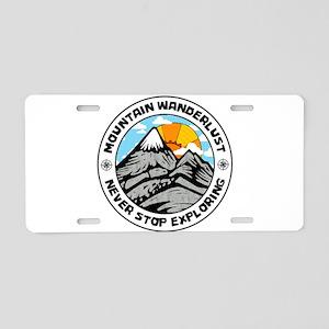 Mountain Wanderlust Aluminum License Plate