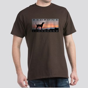 Redbone Coonhound Sunset Dark T-Shirt
