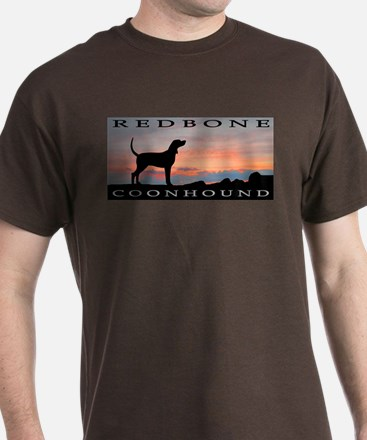 Redbone Coonhound Sunset T-Shirt
