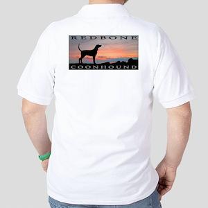 Redbone Coonhound Sunset Golf Shirt