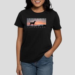 Redbone Coonhound Sunset Women's Dark T-Shirt