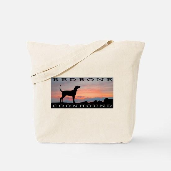 Redbone Coonhound Sunset Tote Bag