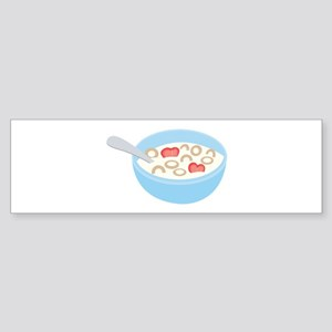 Cereal Bowl Bumper Sticker