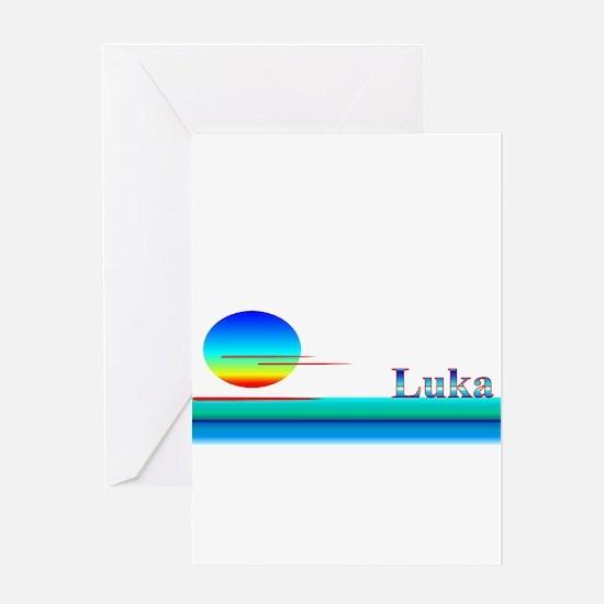 Luka Greeting Card
