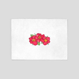 FLOWERS 5'x7'Area Rug