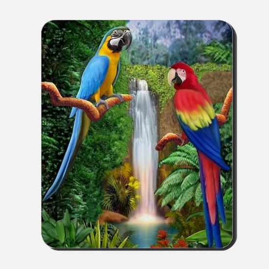 MaCaw Tropical Parrots Mousepad