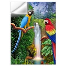 MaCaw Tropical Parrots Wall Decal
