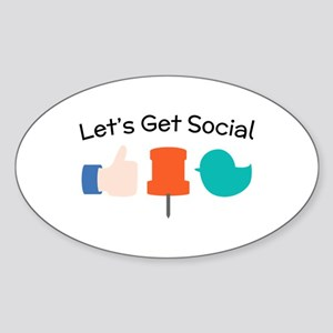 Let's Get Social Sticker