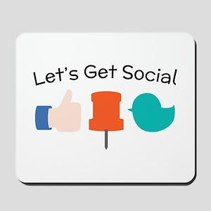 Let's Get Social Mousepad