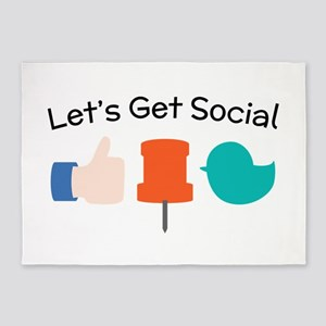 Let's Get Social 5'x7'Area Rug