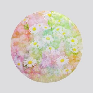 Daisy field Round Ornament