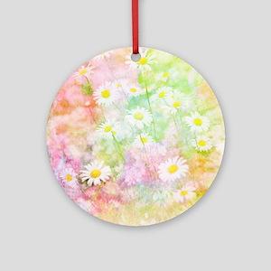 Daisy field Round Ornament