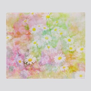 Daisy field Throw Blanket