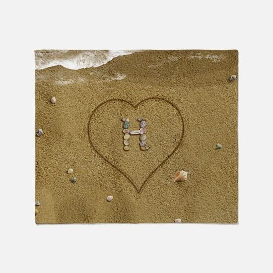 H Beach Love Throw Blanket
