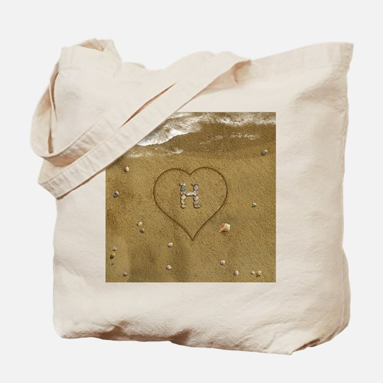 H Beach Love Tote Bag