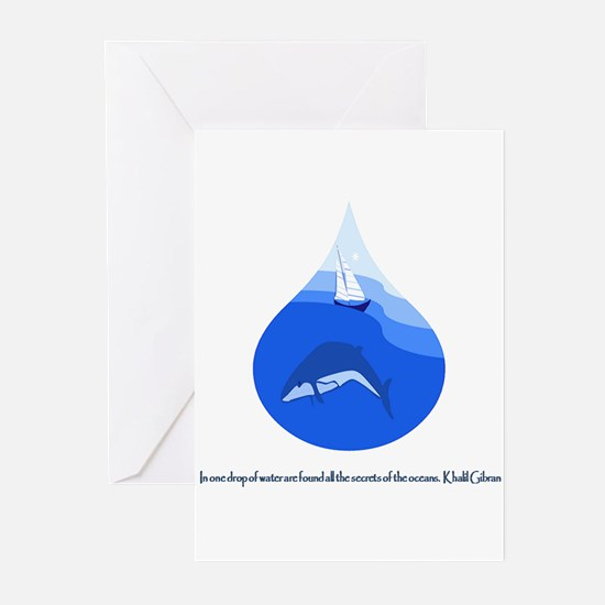 One Drop of Water Greeting Cards
