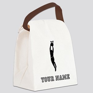 Basketball Player Silhouette Canvas Lunch Bag