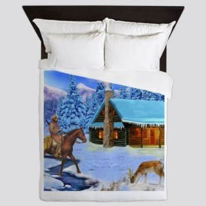 Mountain Man's Wilderness Queen Duvet