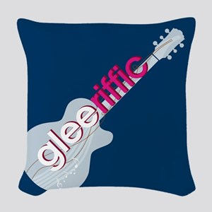 Glee Guitar Woven Throw Pillow