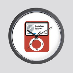Ipad Double Bass Wall Clock