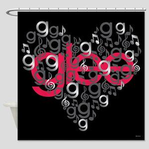 Glee Heart Shower Curtain