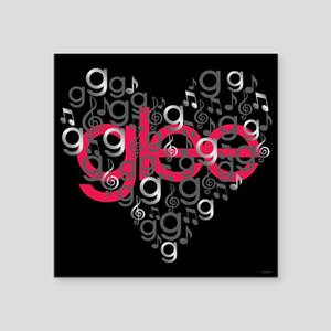 "Glee Heart Square Sticker 3"" x 3"""