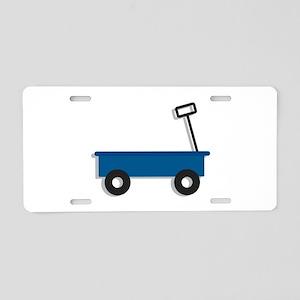 Blue Wagon Aluminum License Plate