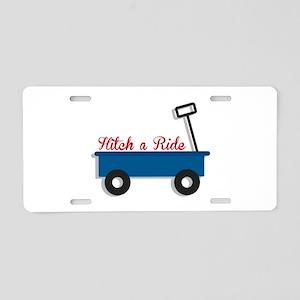 Hitch a Ride Aluminum License Plate