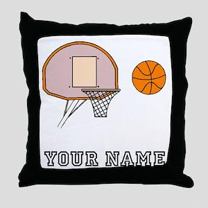 Basketball Hoop Throw Pillow