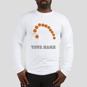 Basketball Balls And Net Long Sleeve T-Shirt