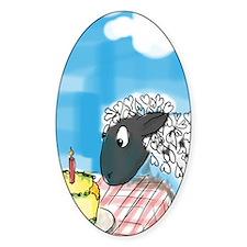 happy b-day 2 ewe Sticker (Oval)