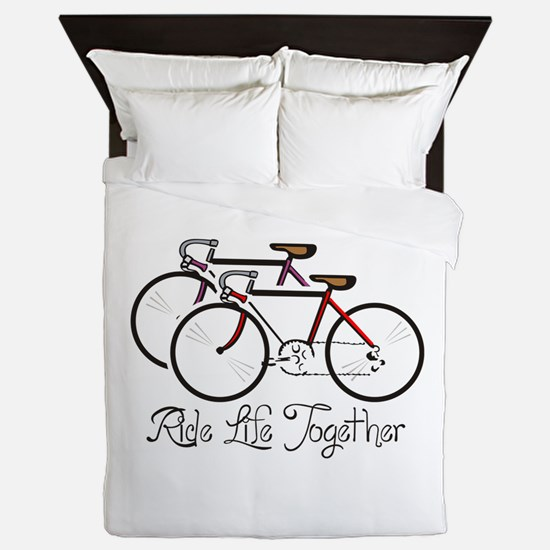 RIDE LIFE TOGETHER Queen Duvet