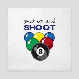 SHUT UP AND SHOOT Queen Duvet