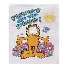 Flowers Are Our Friends! Throw Blanket