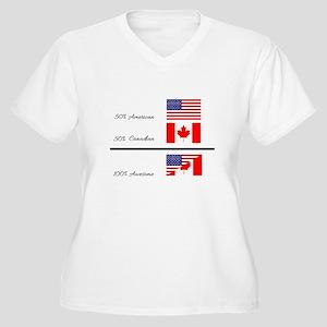 Half Canadian Half American comp Plus Size T-Shirt