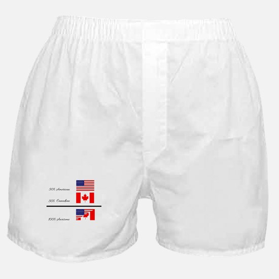 Half Canadian Half American completel Boxer Shorts