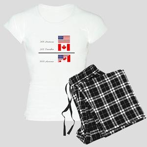 Half Canadian Half American Women's Light Pajamas