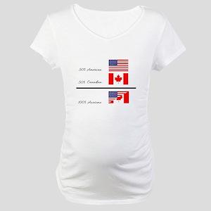 Half Canadian Half American comp Maternity T-Shirt