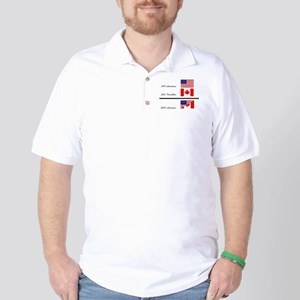 Half Canadian Half American completely Golf Shirt