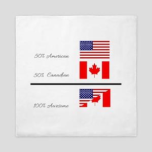 Half Canadian Half American completely Queen Duvet